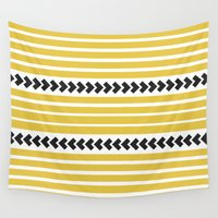 striped Wall Tapestries featuring Striped by Mariana Nabas