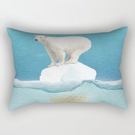 Polar ice cream cap Rectangular Pillow