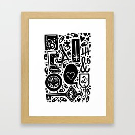 Beat and Love Framed Art Print