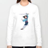 mulan Long Sleeve T-shirts featuring MULAN by Danielle Ebro
