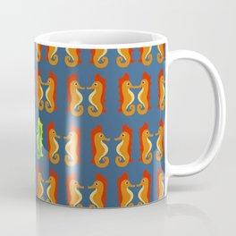 Stand Out - Seahorses - Pattern of Ocean Life - Bathroom Art Coffee Mug