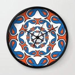 abstract mandala tribal Wall Clock