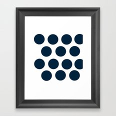 CircleCircle Framed Art Print