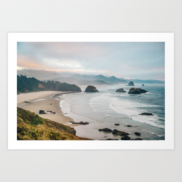 Alone in the beauty of the earth Art Print