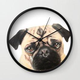 Pugging Love Wall Clock