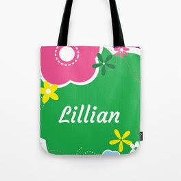 Lillian: Personalized Gifts for Girls and Women Tote Bag