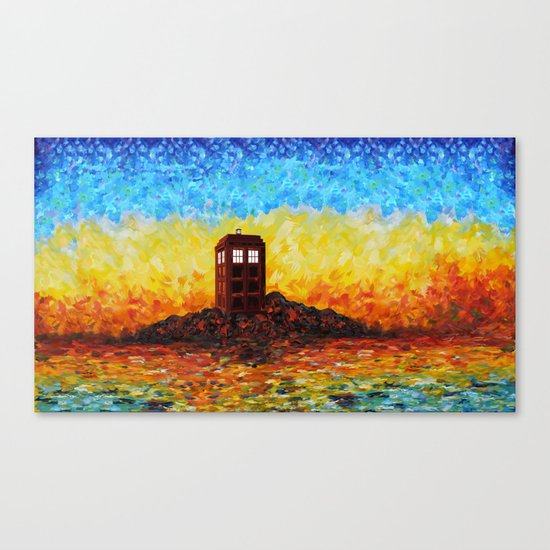 Tardis at the twilight zone iPhone 4 4s 5 5c 6, pillow case, mugs and tshirt Canvas Print