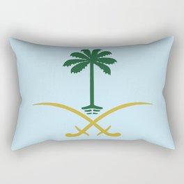 ksa logo saudi arabia logo private sticker shirt iphone case السعودية سيفين ونخلة خاص كفر ايفون جديد Rectangular Pillow