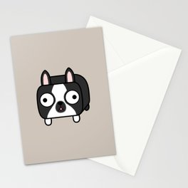 Boston Terrier Loaf - Black and White Dog Stationery Cards