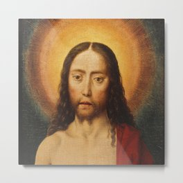 Head of Christ, Dirk Bouts, 15th Century Dutch Painting Metal Print