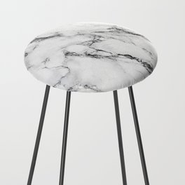 White Marble Texture Counter Stool
