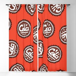 Cola Bottle Top Pattern Blackout Curtain
