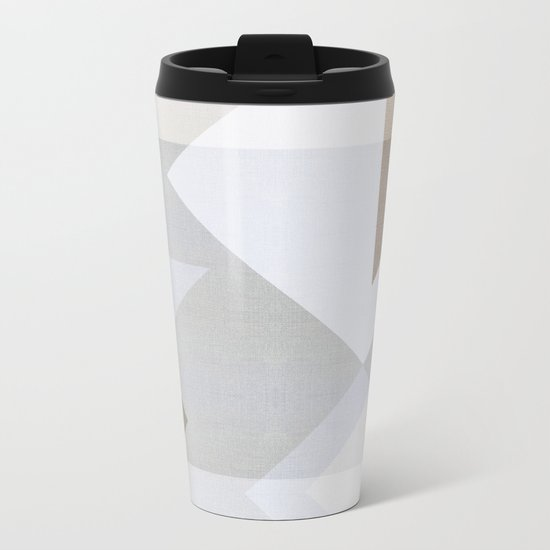 Creame Geometric Metal Travel Mug