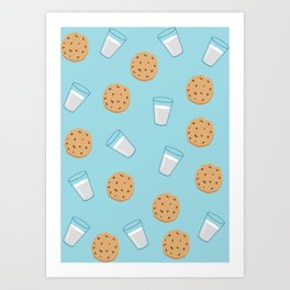 Cookies & milk Art Print