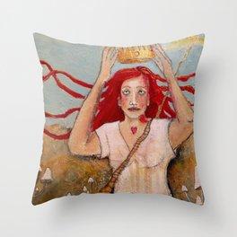 Crowning Herself Throw Pillow