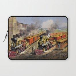 American Railroad Scene (Currier & Ives) Laptop Sleeve