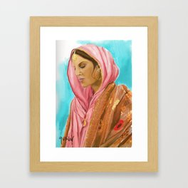Punjabi Beauty Framed Art Print