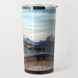 Torres del Paine National Park Chile, The Boat in Patagonia Travel Mug