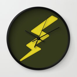Lightning bolt Wall Clock
