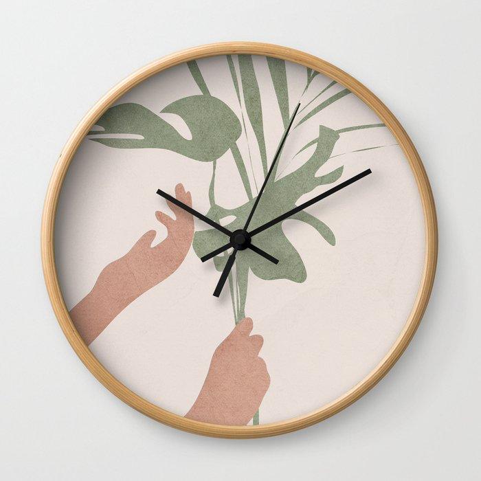 Leafs Wall Clock