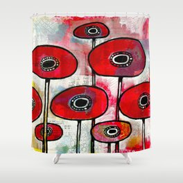Poppies #4 Shower Curtain