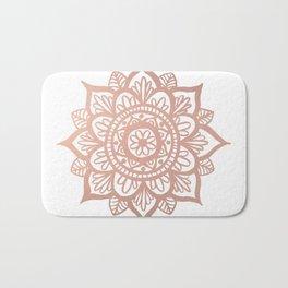 New Rose Gold Mandala Bath Mat