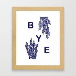 BYE - blue Framed Art Print