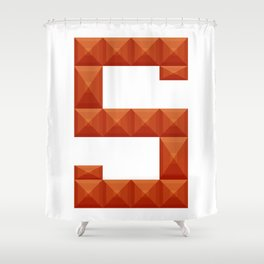 """Letter """"S"""" print in beautiful design Fashion Modern Style Shower Curtain"""