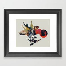 The Other Side of Shattered Glass Framed Art Print