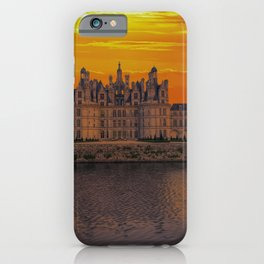 The castle of Chambord at sunset, Castle of the Loire, France iPhone Case