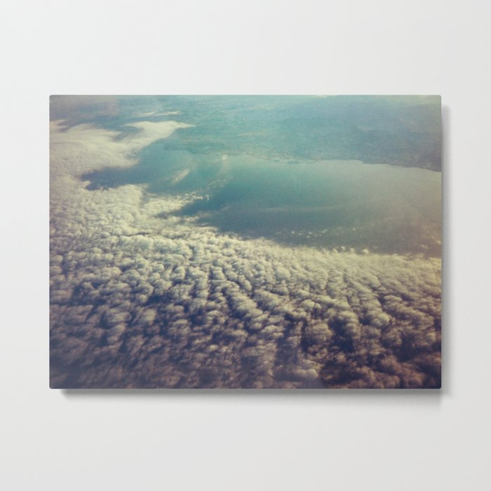Clouds from plane Metal Print