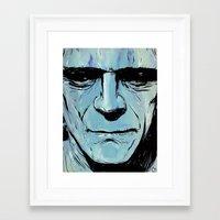 frankenstein Framed Art Prints featuring Frankenstein by Giuseppe Cristiano