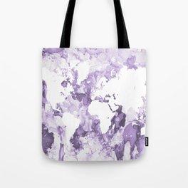 Design 109 Purple World Map Tote Bag