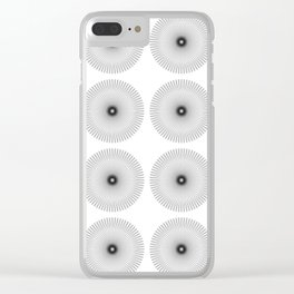 SPIROGRAPH NO. 23 BLACK - REPEATED Clear iPhone Case