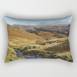 Views of Honister Pass and Hause Gill above Seatoller. Lake District; UK. Rectangular Pillow