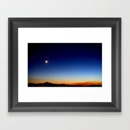 Falling Star Framed Art Print