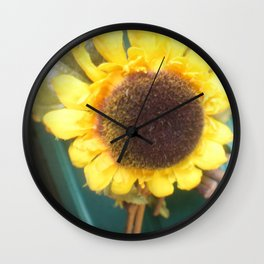 Yellow TTV Wall Clock