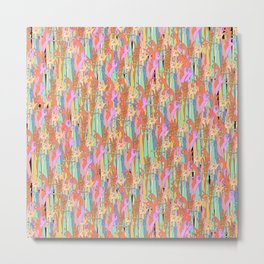 Rainbow Hands Pattern Metal Print