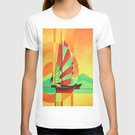 Chinese Junks Sail to Shore  T-shirt