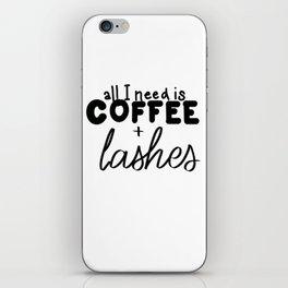 Coffee & Lashes iPhone Skin