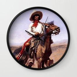 "Frederic Remington Western Art ""A Regimental Scout"" Wall Clock"