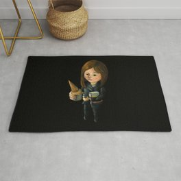 Hello Melted Coffee Ice Cream Rug