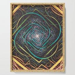 SuperCollider. 3d Abstract Art Serving Tray