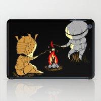 dark souls iPad Cases featuring Bonfire Buddies - Dark Souls by Pengew