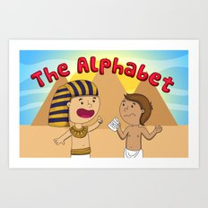 The Alphabet Art Print