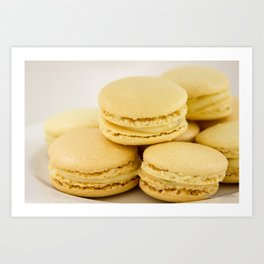 Sweet Lemon Macaron Dessert - Food Photography #Society6 Art Print