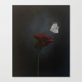 The Rose and the Butterfly Canvas Print