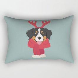 Bernese Mountain Christmas Dog Rectangular Pillow