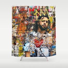 J.Cole Portrait Shower Curtain