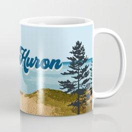 Lake Huron Retro Coffee Mug